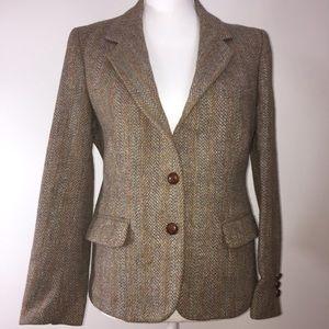 Vintage tweed herringbone blazer